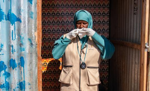 Muna, a healthcare worker in Somalia