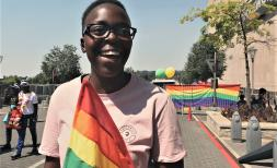 Kim, 17, at Johannesburg Pride.
