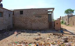 Aymen's* old destroyed house in Darsaad, Aden governorate.