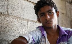 Rami* 15, was injured by a warplane in Yemen.
